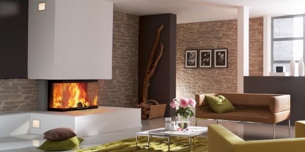 SPARTHERM – Cheminée avec foyer 3 vitres Arte 3RL- 80H
