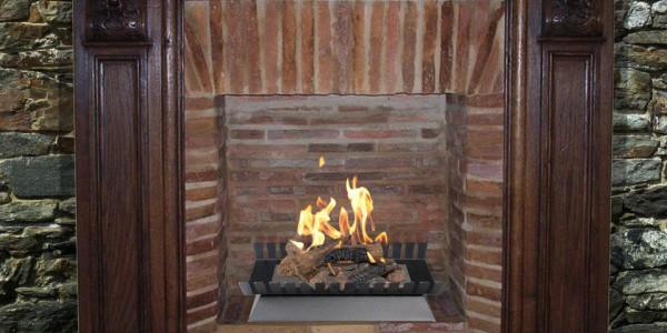 RUSTIQUE ETHANOL – Insid'âtre modèle Timber Basic de Ignisial