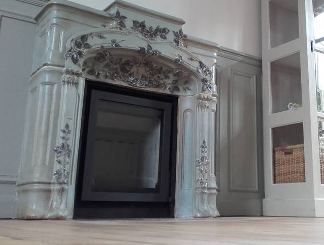 insert dans cheminée en marbre